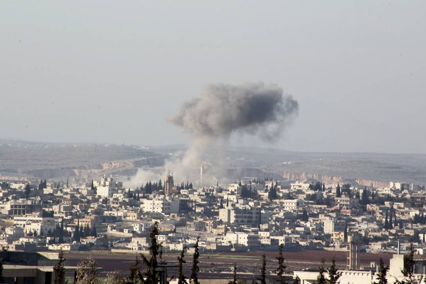 Syrian peace talks halted as regime cuts key Aleppo conduit, Russian airstrikes rage on