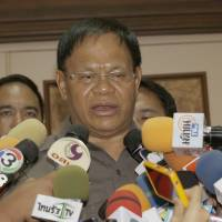 Police Gen. Panya Mamen talks to reporters at Royal Thai Police headquarters in Bangkok Thursday. Police in Thailand's capital said they have identified a man whose body parts were found floating in the city's Chao Phraya River as a Spanish consultant, and also have identified suspects in his killing. | AP