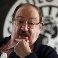 Umberto Eco poses during the presentation of his novel 'The Cemetery of Prague' in Madrid in December 2010. | REUTERS