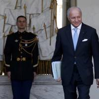 French Foreign Affairs Minister Laurent Fabius leaves the Elysee Palace following the weekly Cabinet meeting in Paris, France, on Feb. 10, 2016. Fabius said Wednesday he was going to leave office, as had been widely expected. | REUTERS