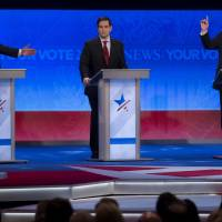 Rubio, Cruz face barrage of attacks in U.S. Republican debate