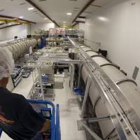 A bird's eye view of Laser Interferometer Gravitational-wave Observatory (LIGO) Hanford laboratory's laser and vacuum equipment area (LVEA), which houses the pre-stabilized laser, beam splitter, input test masses, and other equipment near Hanford, Washington, is shown in 2014. | REUTERS / CALTECH / MIT / LIGO LABORATORY / HANDOUT VIA REUTERS