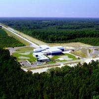 An aerial photo shows Laser Interferometer Gravitational-wave Observatory (LIGO) Livingston Laboratory detector site near Livingston, Louisiana, in this undated photo released by Caltech/MIT/LIGO Laboratory on Tuesday. | REUTERS / CALTECH / MIT / LIGO LABORATORY / HANDOUT VIA REUTERS