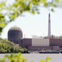 This Indian Point nuclear power plant stands on the Hudson River in Buchanan, New York, in this file photo. | AP
