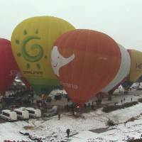 50 Latvian pairs hitch in hot air balloons on Valentine's