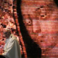 Pope Francis celebrates Mass at the Basilica of the Virgin of Guadalupe in Mexico City on Saturday. The pontiff's five-day visit to Mexico included prayer before the Virgin of Guadalupe shrine, perhaps the world's most popular Marian shrine and one that is important to the first Latin American pope. | AP