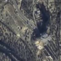 Aerial footage released by Russia's Defense Ministry on Feb. 11 shows airstrikes carried out by the country's air force and hitting what the Defense Ministry says was an Islamic State command post in Idlib, Syria. | REUTERS/MINISTRY OF DEFENSE OF THE RUSSIAN FEDERATION / HANDOUT VIA REUTERS