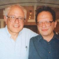 Larry Sanders (right) poses with his younger brother Bernie in this undated image he provided. | AP