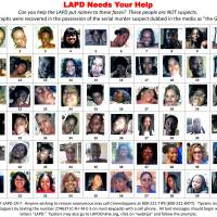 Photographs found in the possession of serial murder suspect Lonnie David Franklin Jr., dubbed the 'Grim Sleeper,' recovered by the Los Angeles Police Department (LAPD) are seen in this handout image released in 2010. | REUTERS / LOS ANGELES POLICE DEPARTMENT / HANDOUT / REUTERS