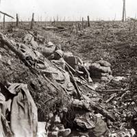 An undated archive picture shows a French soldier standing in the 'Ravin de la Mort' (Ravine of the Dead) near the Fort de Vaux, near Verdun, France. A Viscount in the Armoured Cavalry Branch of the French Army left behind a collection of hundreds of glass plates taken during World War I. The images, by an unknown photographer, show daily life of soldiers in the trenches, destruction of towns and military leaders. Sunday marks the 100th anniversary of the start of the Battle of Verdun. It was one of the largest battles of the First World War on the Western Front between German and French armies | REUTERS