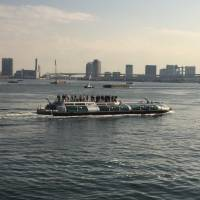 The tour boat Hotaluna cruises in Tokyo Bay on Feb. 4. | MAGDALENA OSUMI