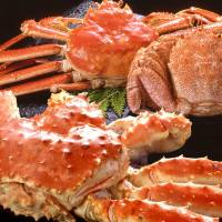 Crab shown in this handout photo are among products donors of 'hometown tax,' a form of donation, to the city of Nemuro, Hokkaido, can opt to receive when they make donations. | KYODO