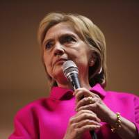 Democratic U.S. presidential candidate Hillary Clinton is pictured at the Scott County Democratic Party's Red, White and Blue Dinner in Iowa on Jan. 23. | REUTERS