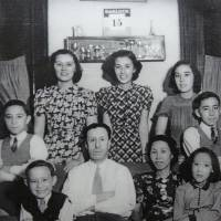 Patricia Chick (bottom right) and the rest of her family are pictured in Shanghai on Oct. 15, 1940. By 1942, the family was in Manila and had been interned by the Japanese. | BAKER FAMILY ARCHIVES / KYODO