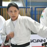 Female Japanese judoka coaching Brazil team at Rio Olympics