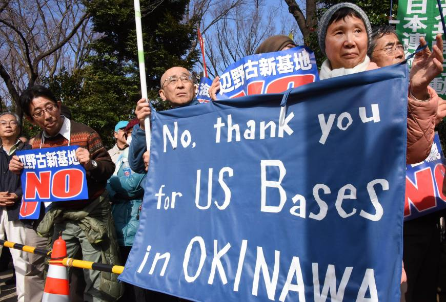 Diet surrounded by 28,000 as synchronized protests in Japan rip Futenma base move in Okinawa