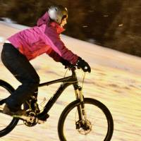 Nagano ski resort tries out downhill snow biking
