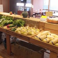 A cafe in the Share Kanazawa complex sells locally grown produce.   ERIC JOHNSTON