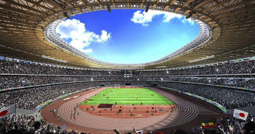 Japan mulls asking for donations to pay for wooden seats at new Olympic stadium