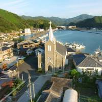 Sakitsu Church in Amakusa, Kumamoto Prefecture, where people practiced Christianity in secret to escape persecution, is among the sites Japan is set to retract from its recommendation to UNESCO for World Heritage listing. | KYODO