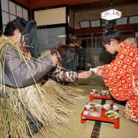 The Oga Namahage in Akita Prefecture is one of the annual events that Japan will seek to have included on UNESCO's Intangible Cultural Heritage list. | CULTURAL AFFAIRS AGENCY / KYODO