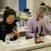 For the goodness of sake: international sommeliers test their senses