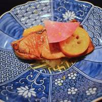 Yellowtail in teriyaki sauce with kumquat and radish | J.J. O'DONOGHUE