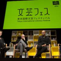 A new chapter: After a successful event in 2014 with a diverse range of speakers, including Junot Diaz (right) and Aleksandar Hemon (left), the Tokyo International Literary Festival was forced to take a one-year hiatus. Helmed by a new team, the festival will return in 2016 with a strong lineup of speakers. | COURTESY OF THE TOKYO INTERNATIONAL LITERARY FESTIVAL