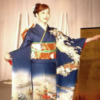 The elegant long-sleeved kimono used by stage performers is referred to as furi-sode ('waving sleeves'). The old saying 'Furi-sode de shigoto wa dekinu' is analogous to 'A cat in gloves catches no mice.' | KYODO