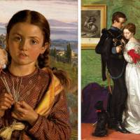'Tuscan Girl Plaiting Straw' by William Holman Hunt (1869); 'The Black Brunswicker' (1860) by John Everett Millais | © COURTESY NATIONAL MUSEUMS LIVERPOOL, WALKER ART GALLERY