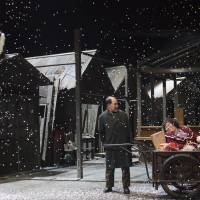 Cast adrift: This scene from 'Yakiniku Dragon' in 2011 shows a Korean-Japanese family forced out of their restaurant-home to make way for development. | MASAHIKO YAKOU
