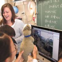 Developing confidence in English through Skype and scarecrows