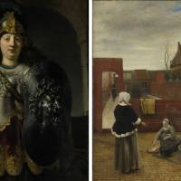Rembrandt van Rijn's 'Bellona' (1633); Pieter de Hooch's 'A Woman and her Maid in a Courtyard' (ca. 1660) | THE FRIEDSAM COLLECTION, BEQUEST OF MICHAEL FRIEDSAM, 1931 (32.100.23), © THE METROPOLITAN MUSEUM OF ART. IMAGE SOURCE: ART RESOURCE, NY; © THE NATIONAL GALLERY, LONDON