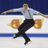 World champion Javier Fernandez and Olympic champion Yuzuru Hanyu are training partners under coach Brian Orser in Toronto. | REUTERS