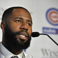 Outfielder Jason Heyward is preparing for his first year with the Cubs after spending 2015 as a member of the Cardinals. | AP