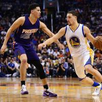 Klay Thompson and the Golden State Warriors went into the All-Star break with a 48-4 record and an 11-game winning streak. | USA TODAY / REUTERS