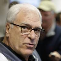 New York Knicks president Phil Jackson pulled the plug on coach Derek Fisher on Feb. 8 after losing nine of 10 games. | AP