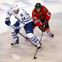Blackhawks whip Maple Leafs, end three-game skid
