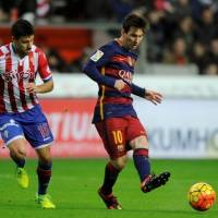 Barcelona's Lionel Messi (right) is the star attraction on a team of superstars.   REUTERS