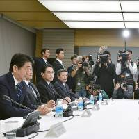 Abe willing to postpone tax hike at eleventh hour if necessary