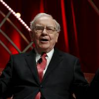 Warren Buffett, chairman and CEO of Berkshire Hathaway, speaks at the Fortune's Most Powerful Women's Summit in Washington in October. Buffett, told CNBC on Monday the firm's ownership of IBM shares could prove a mistake and that he was buying more U.S. stocks overall since the end of last year. | REUTERS