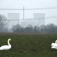 The nuclear power plant in Biblis near Frankfurt, Germany, is seen Tuesday. | REUTERS
