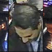 In this image provided by the Belgian Federal Police on Monday, a combo photograph shows Najim Laachraoui, who was previously identified in a false passport as Soufiane Kayal by Belgium Federal Police, during a money transfer on Nov. 17 in a Western Union bank in the Brussels region of Belgium. Federal police state that Laachraoui was also seen on Sept. 9 at the Hungarian-Austrian border with Samir Bouzid and Salah Abdeslam, one of the suspects of the Paris terrorist attacks. | BELGIAN FEDERAL POLICE VIA AP