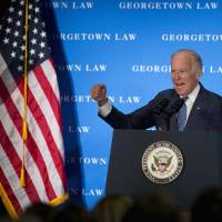 Biden chides Senate snub of Obama top court pick, denies he set precedent; voter poll backs him