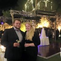 This 2015 family photo shows Alexander Pinczowski and his fiance, Cameron Cain, in Greece. Victims of the attacks on Brussels' airport and subway included commuters heading to work and travelers setting off on long-anticipated vacations. They came from dozens of nations to a city that's home to the European Union, NATO and other international institutions. Alexander and Sascha Pinczowski, Dutch nationals who lived in the U.S., were headed home to the United States when they were killed in last week's Brussels Airport blast.   COURTESY OF THE FAMILY VIA AP