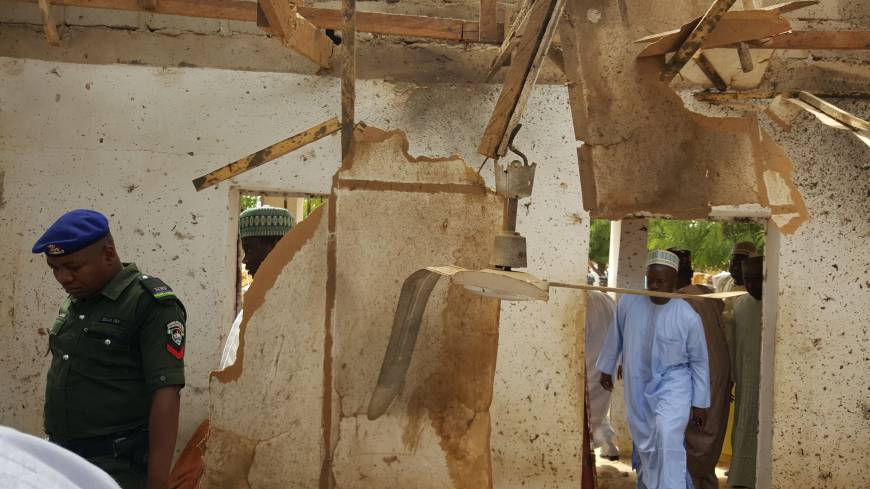 Female suicide bombers kill 24 at mosque near Boko Haram birthplace