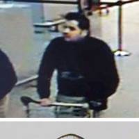 Ibrahim El Bakraoui (top) is seen before Tuesday's attacks at Belgium's Zaventem Airport, and his brother, Khalid (bottom), appears in an undated photo. Both were involved in the deadly Brussels bombings. | TOP PHOTO BELGIAN FEDERAL POLICE, BOTTON INTERPOL VIA AP, FILE