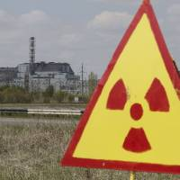 A sarcophagus covers the damaged fourth reactor at the Chernobyl nuclear power plant in Ukraine in May 2015. | REUTERS