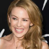 This 2014 file photo shows singer Kylie Minogue at the premiere of 'Hercules' in Hollywood, California. | AFP-JIJI