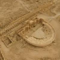 An aerial view of the historic city of Palmyra, in Homs Governorate, Syria, is seen in this still image taken from a drone video courtesy of Rossiya 24, made available to Reuters on Monday. | REUTERS / ROSSIYA 24 / HANDOUT VIA REUTERS